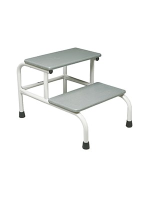 FOOTSTOOL TWO-STEP GREY