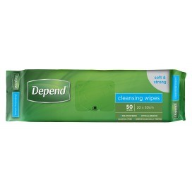 Depend Wipes 50 x 14