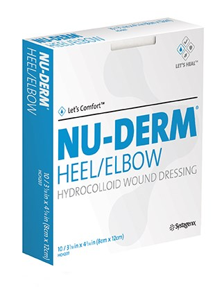 Nu-Derm Hydrocolloid Border Heel/Elbow Dressing 8cm x 12cm Box/10