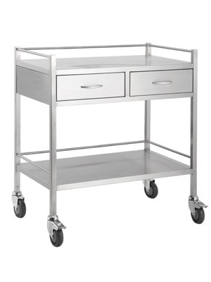 TROLLEY S/S 2 DRAWER 80X50X90