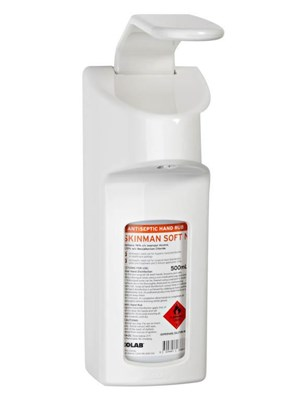 WALL DISPENSER FOR SKINMAN RUB 500ml